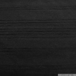 Jersey polyester rayures texturé noir