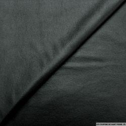 Simili cuir noir souple envers gris chiné