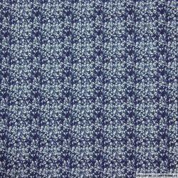 Coton imprimé destructuré marine