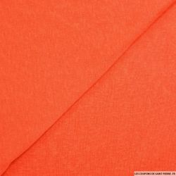 Maille polyester flammée orange