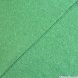 Maille polyester flammée menthe à l'eau