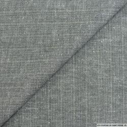 Jacquard lin mélangé chevrons gris