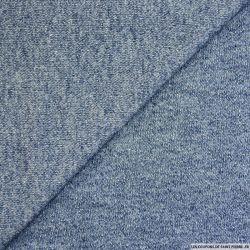 Molleton polyviscose bleu jeans chiné
