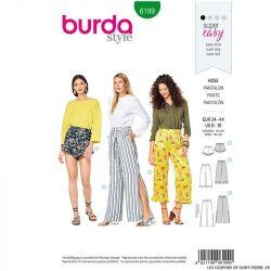 Patron Burda n°6199 : Pantalon à coulisse
