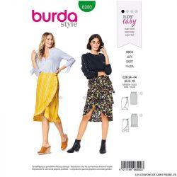 Patron Burda n°6200 : Jupe portefeuille