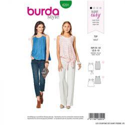 Patron Burda n°6200 : Top à bretelles