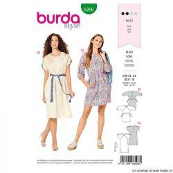Patron Burda n°6205 : Robe à parement