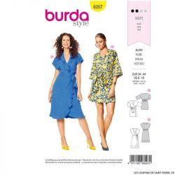 Patron Burda n°6207 : Robe portefeuille