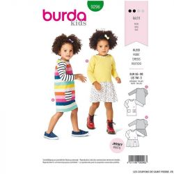 Patron Burda n°9296 : Robe Enfant
