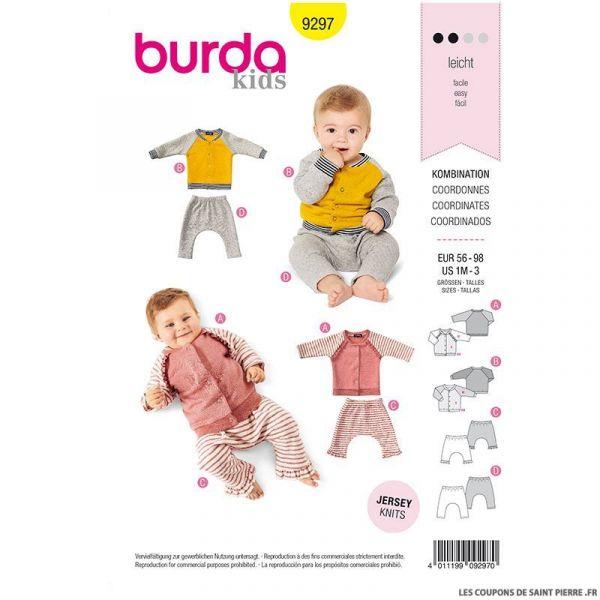 Patron Burda n°9297: Veste bébé