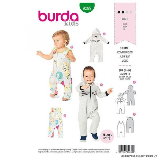 Patron Burda n°9298: Gigoteuse bébé