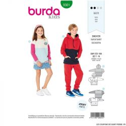 Patron Burda n°9301: Sweat-shirt