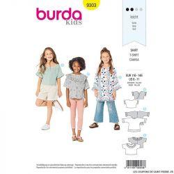 Patron Burda n°9302 : Tee-shirt Enfant