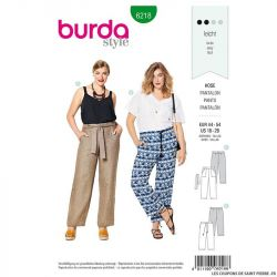Patron Burda n°6218 : Pantalon – forme droite –  poches plaquées