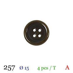 Tube 4 boutons vert nacré Ø 15mm