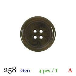 Tube 4 boutons vert marbré Ø 20mm