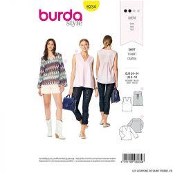 Patron Burda n°6234 : Blouse – top – encolure en V