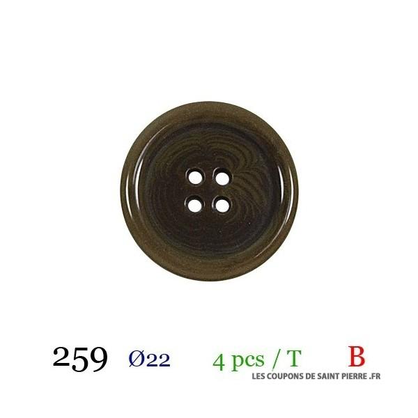Tube 4 boutons Ø 22mm