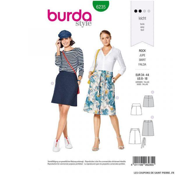 Patron Burda n°6235 : Jupe avec empiècement