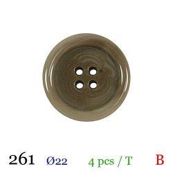 Tube 4 boutons vert Ø 22mm