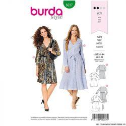 Patron Burda n°6237: Robe à fermeture boutonnée