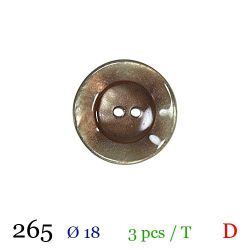 Tube 3 boutons marron clair Ø 18mm