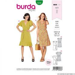 Patron Burda n°6238:  Robe – robe portefeuille