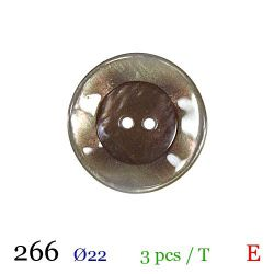 Tube 3 boutons marron clair Ø 22mm