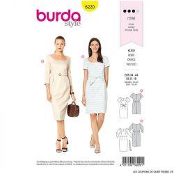 Patron Burda n°6220: Robe – robe fourreau