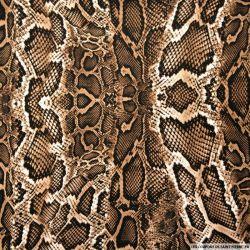 Microfibre imprimée serpent marron glacé