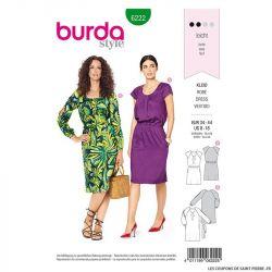 Patron Burda n°6222: Robe à petits plis