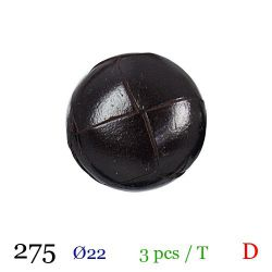 Tube 3 boutons marron foncé Ø 22mm