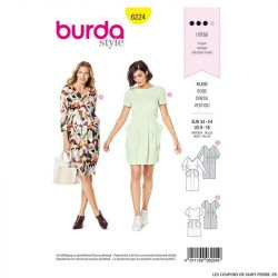 Patron Burda n°6224: Robe – encolure en V