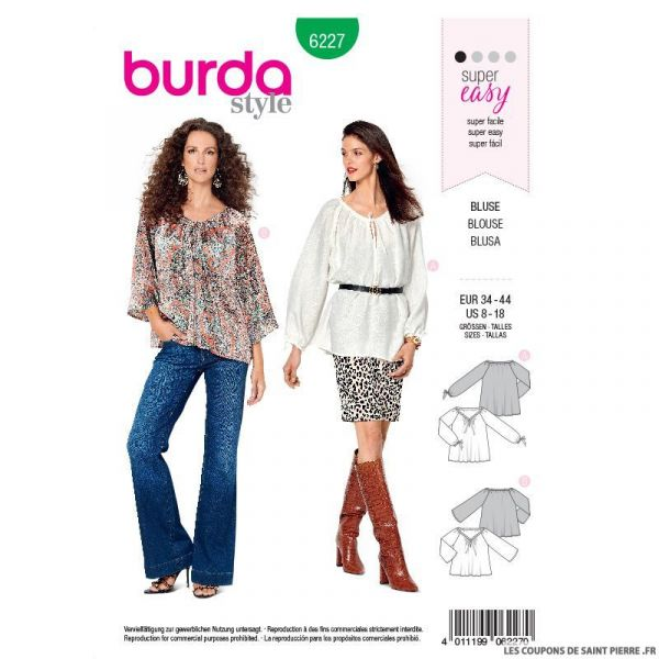 Patron Burda n°6227: Bermuda