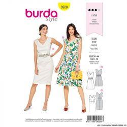 Patron Burda n°6228 : Robe avec smock élastique