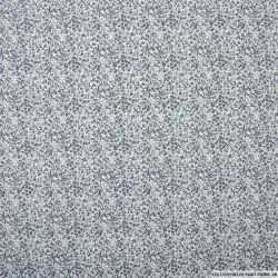 Popeline de coton imprimée minis champs de fleurs gris