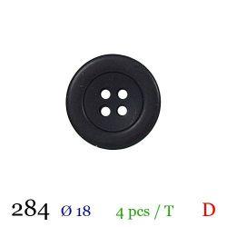 Tube 4 boutons noir Ø 18mm