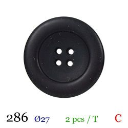 Tube 2 boutons noir Ø 27mm