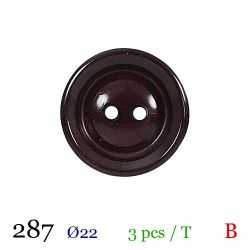 Tube 3 boutons bordeaux Ø 22mm