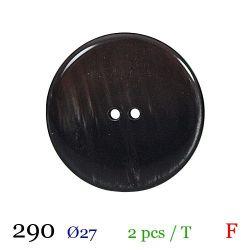 Tube 2 boutons marron foncé Ø 27mm