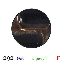 Tube 2 boutons marron Ø 27mm