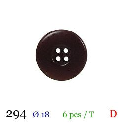 Tube 6 boutons marron Ø 18mm
