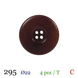 Tube 4 boutons marron Ø 22mm