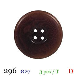 Tube 3 boutons marron Ø 27mm