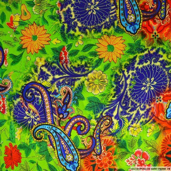 Satin de soie imprimé Rio de Janeiro