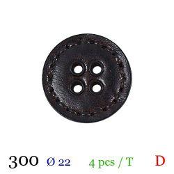 Tube 4 boutons marron foncé Ø 22mm