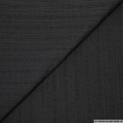 Coton lavé brodé noir