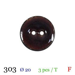 Tube 3 boutons marron Ø 20mm