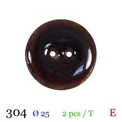 Tube 2 boutons marron Ø 25mm