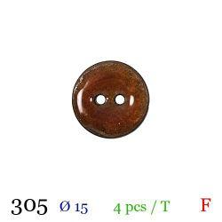 Tube 4 boutons camel Ø 15mm